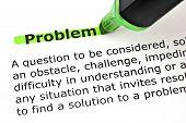Problem =definition Bigstock 34643756