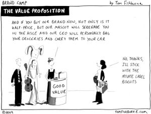 courtesy Tom Fishburne. http://tomfishburne.com/2009/04/the-value-proposition.html